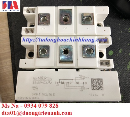 semikron SKKT 162/16E,chinh luu Semikron,Semikron Vietnam,semikron chinh hang,diot semikron co san,modun thyristor IGBT Semikron,